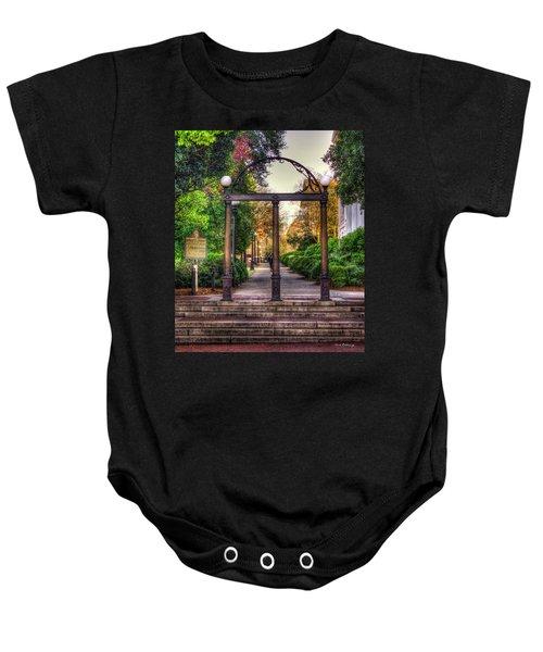 The Arch University Of Georgia Arch Art Baby Onesie