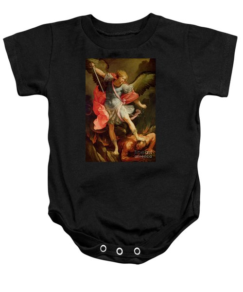 The Archangel Michael Defeating Satan Baby Onesie