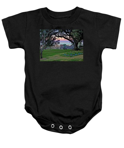 The Bay View Bench Baby Onesie