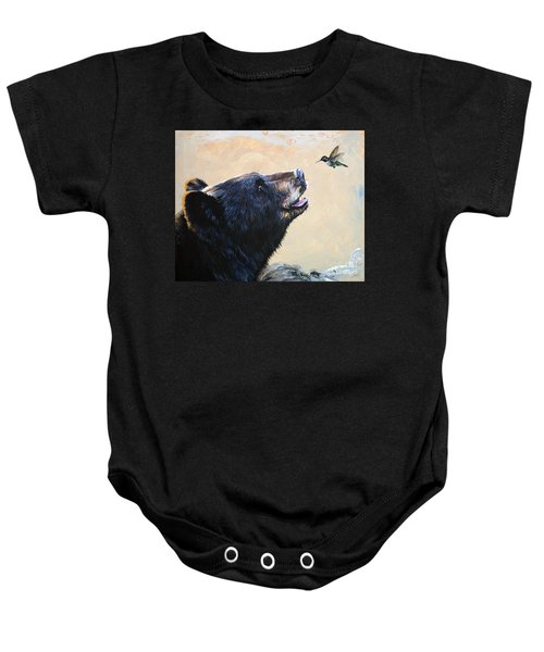 The Bear And The Hummingbird Baby Onesie