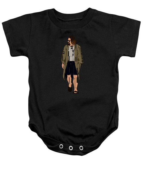 The Big Lebowski Inspired The Dude Typography Artwork Baby Onesie