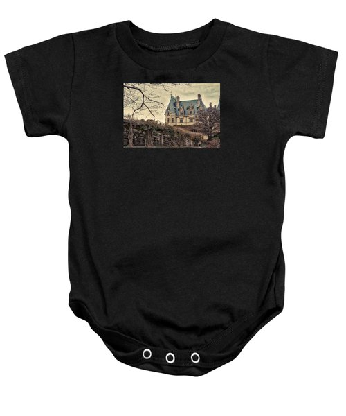 The Biltmore Mansion In The Fall Baby Onesie