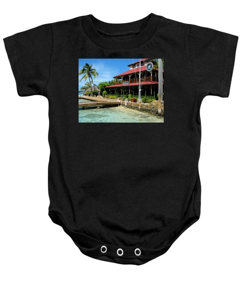 Baby Onesie featuring the photograph The Bitter End Yacht Club by Adam Romanowicz