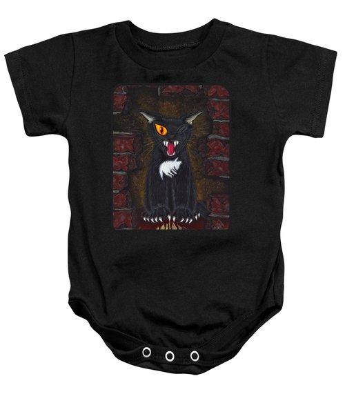 The Black Cat Edgar Allan Poe Baby Onesie