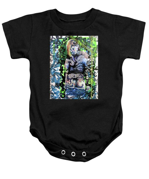 The Blond Bomber  Baby Onesie