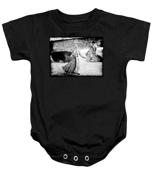The Blond, The Bull And The Coup De Gras Bullfight Baby Onesie