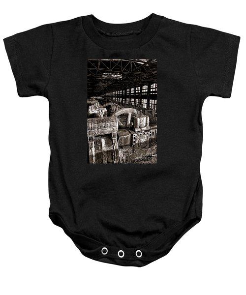 The Blower House At Bethlehem Steel  Baby Onesie