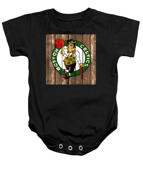 The Boston Celtics 2a Baby Onesie by Brian Reaves
