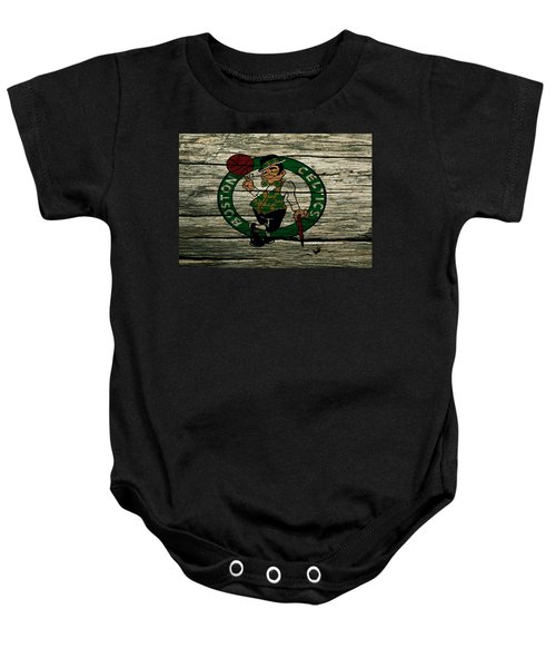 The Boston Celtics 2w Baby Onesie by Brian Reaves