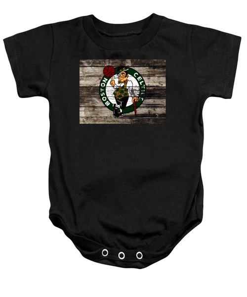 The Boston Celtics W10 Baby Onesie by Brian Reaves