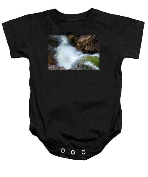 The Brink Of The Lower Falls Of The Yellowstone River Baby Onesie