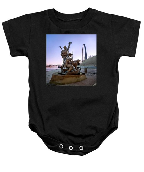 The Captain Returns With Arch Baby Onesie