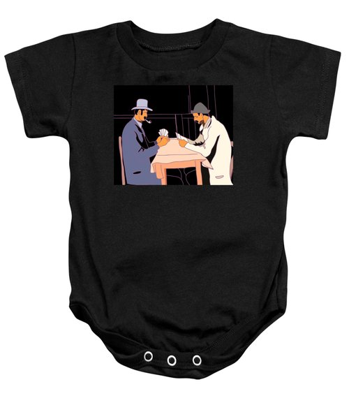 The Card Players Baby Onesie