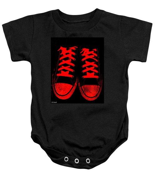 The Devil Wears Converse Baby Onesie