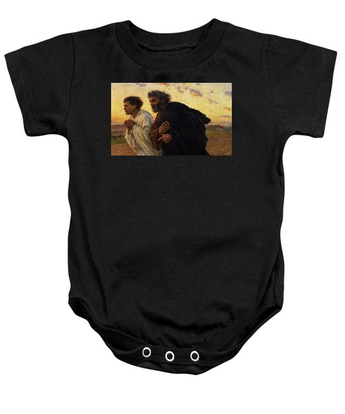 The Disciples Peter And John Running To The Sepulchre On The Morning Of The Resurrection Baby Onesie