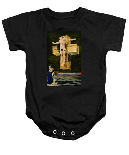 The Father Is Present -after Dali- Baby Onesie