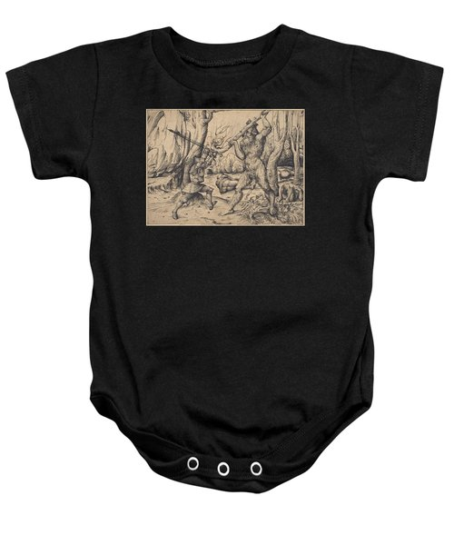 The Fight In The Forest Baby Onesie
