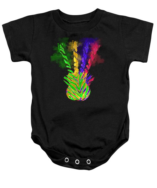 Baby Onesie featuring the digital art The Four Guitars by Guitar Wacky