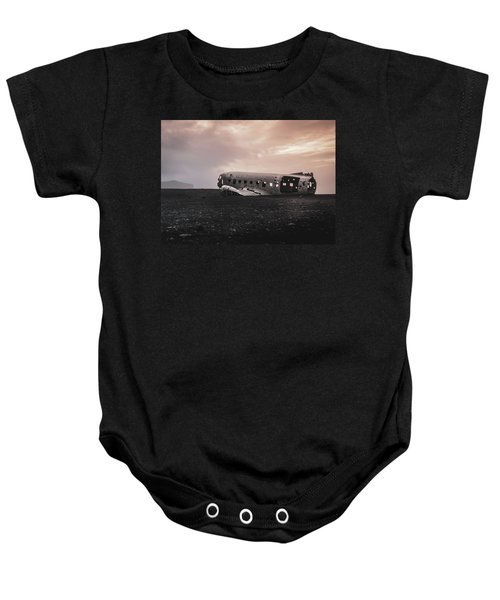The Ghost - Plane Wreck In Iceland Baby Onesie