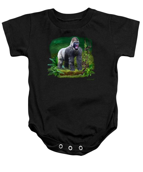 The Guardian Of The Rain Forest Baby Onesie by Glenn Holbrook