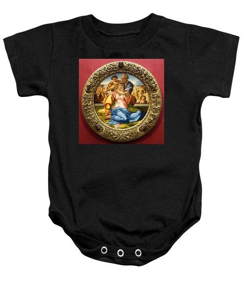 The Holy Family - Doni Tondo - Michelangelo Baby Onesie