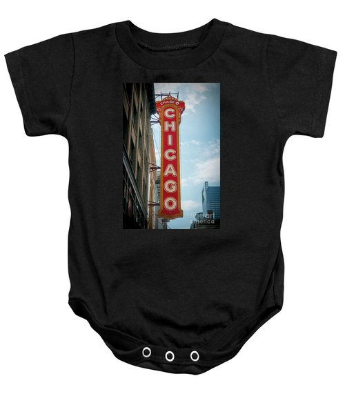 The Iconic Chicago Theater Sign Baby Onesie