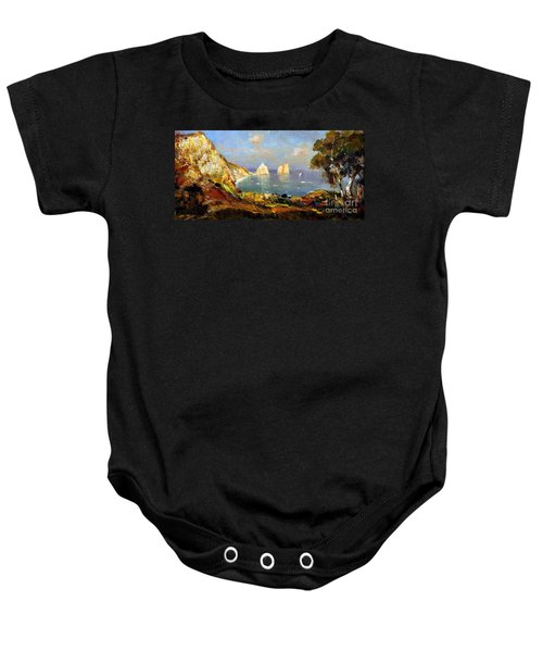 The Island Of Capri And The Faraglioni Baby Onesie