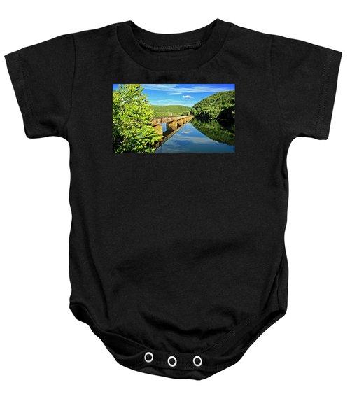 The James River Trestle Bridge, Va Baby Onesie