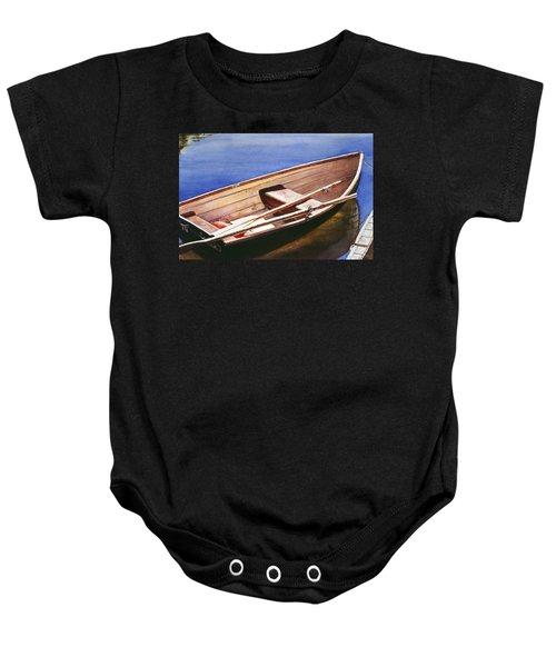 The Lake Boat Baby Onesie
