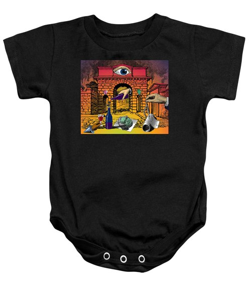 The Last Days Of Herculaneum Baby Onesie