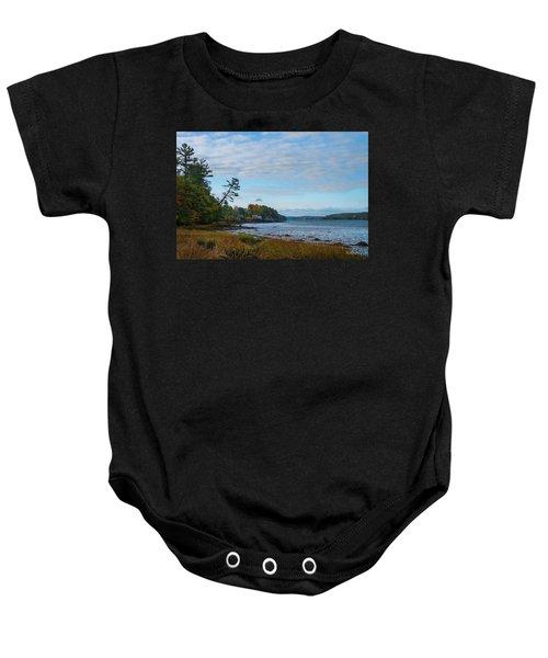 The Maine Coast Near Edgecomb  Baby Onesie