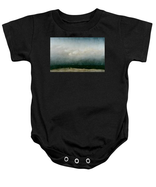 Monk By The Sea  Baby Onesie