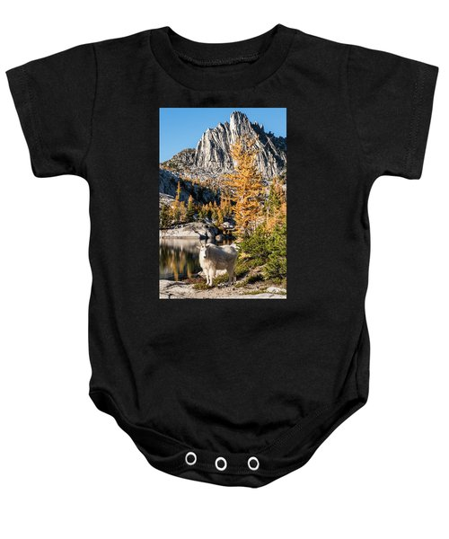 The Mountain Goat In The Enchantments Baby Onesie