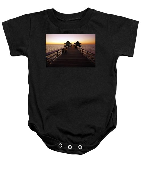 The Naples Pier At Twilight - 01 Baby Onesie