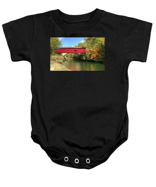 The Narrows Covered Bridge - Sideview Baby Onesie