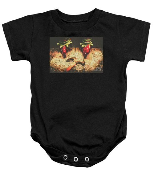 The North Pole Toy Factory Baby Onesie