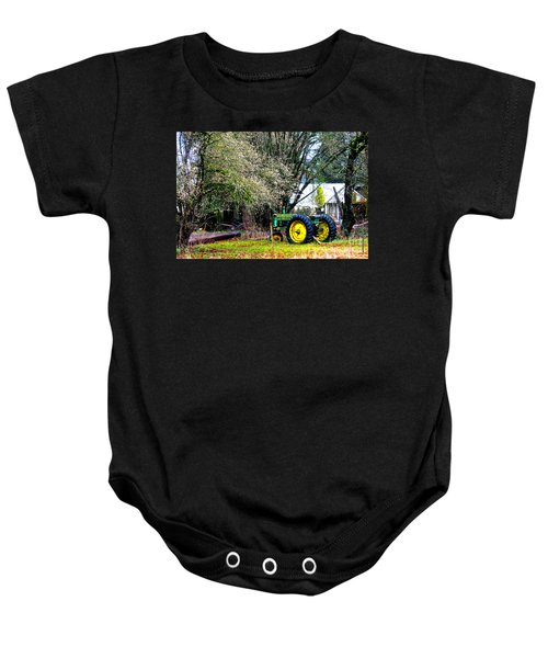 The Old Tractor Baby Onesie