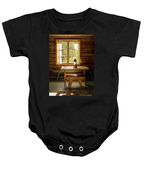 Baby Onesie featuring the photograph The Parlour by Heiko Koehrer-Wagner