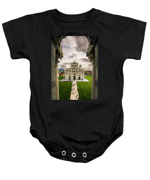 The Pisa Cathedral From The Bapistry Baby Onesie