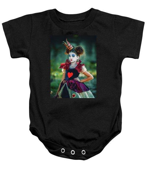 The Queen Of Hearts Alice In Wonderland Baby Onesie