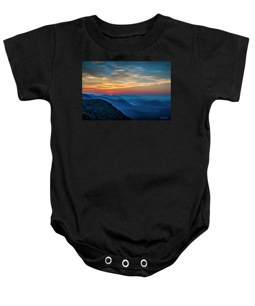 The Rising Sun Pretty Place Chapel Greenville S C Great Smoky Mountain Art Baby Onesie