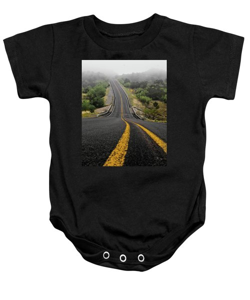 The Road Goes On Forever And The Party Never Ends Baby Onesie