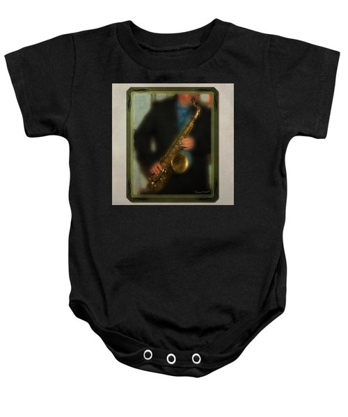 The Sax Player Baby Onesie