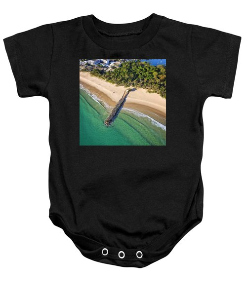 The Sea Wall Near Noosa Main Beach Baby Onesie