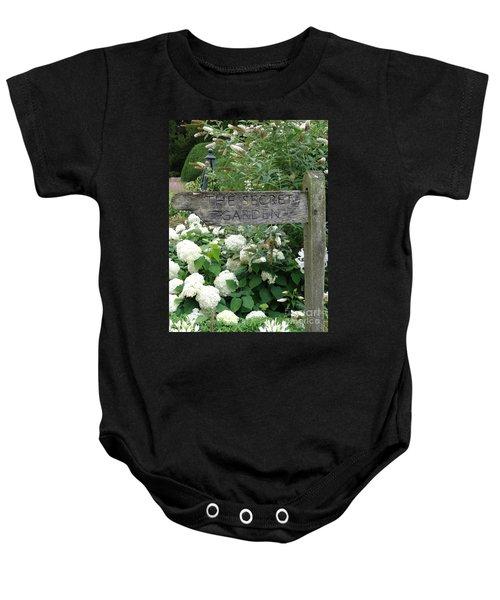 The Secret Garden Sign Baby Onesie