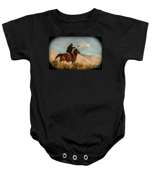 The Sharp Shooter Western Art By Kaylyn Franks Baby Onesie
