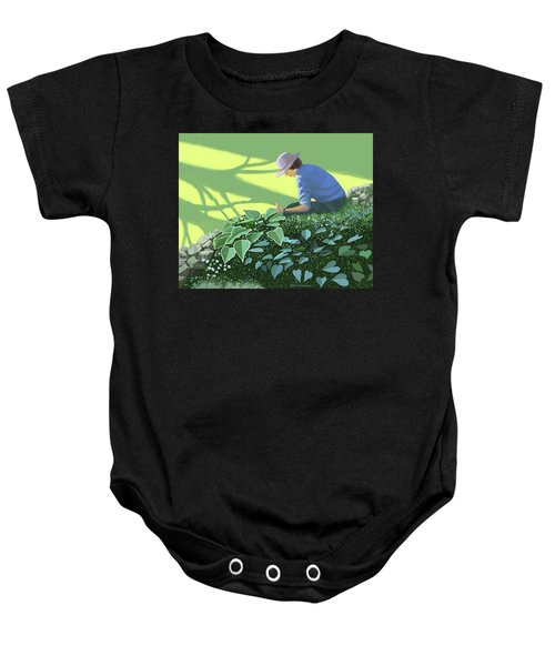 The Solace Of The Shade Garden Baby Onesie