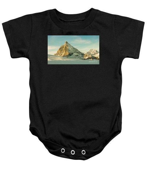 The Sun Sets Over The Matterhorn Baby Onesie