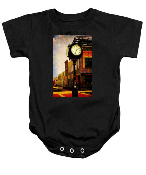 the Town Clock Baby Onesie