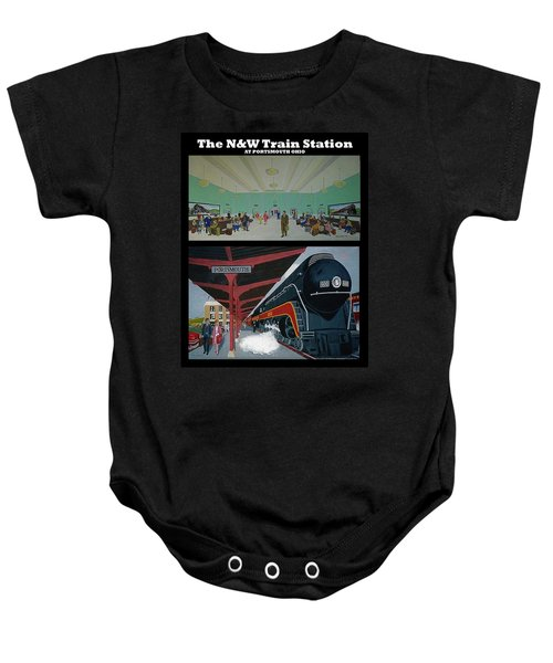 The Train Station At Portsmouth Ohio Baby Onesie